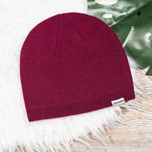 Converse red knit beanie hat